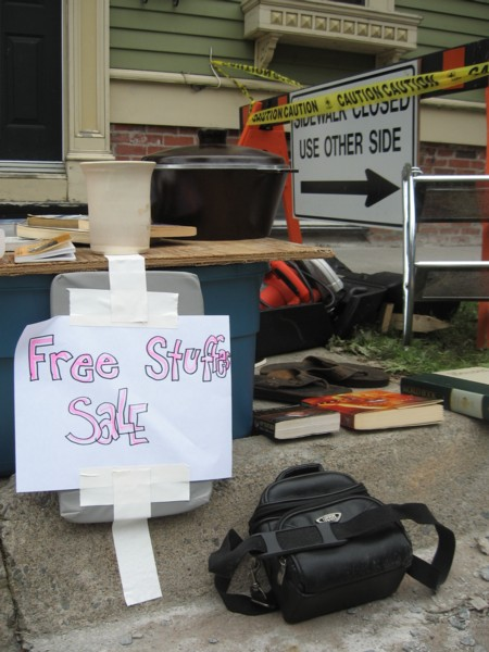 If stuff is free, is it for sale?