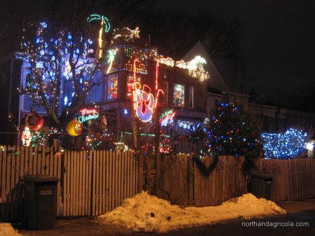 Christmas lights on Belle Aire Terrace