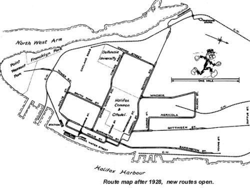 Birney Route Map (1928)